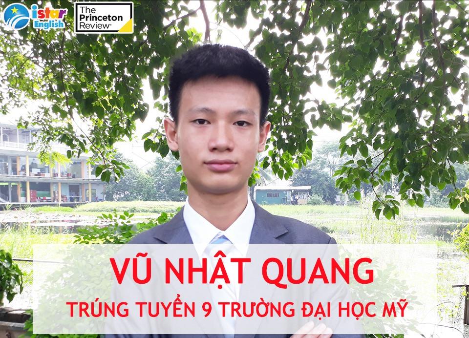 Nhật Quang trúng tuyển đến 9 trường Đại học Mỹ