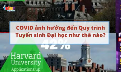 covid ảnh hưởng đến quy trình tuyển sinh đại học title