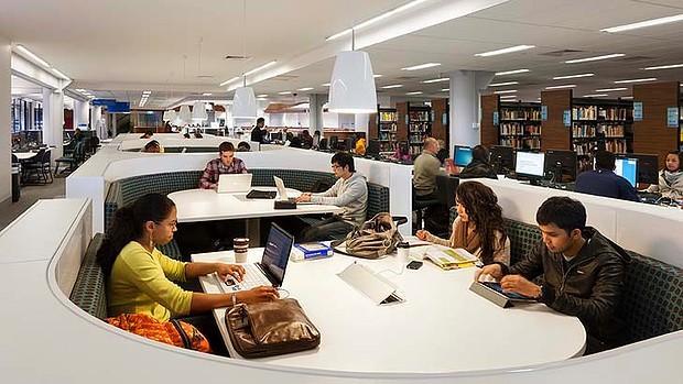 Thư viện trường hiện đại của đại học Victoria